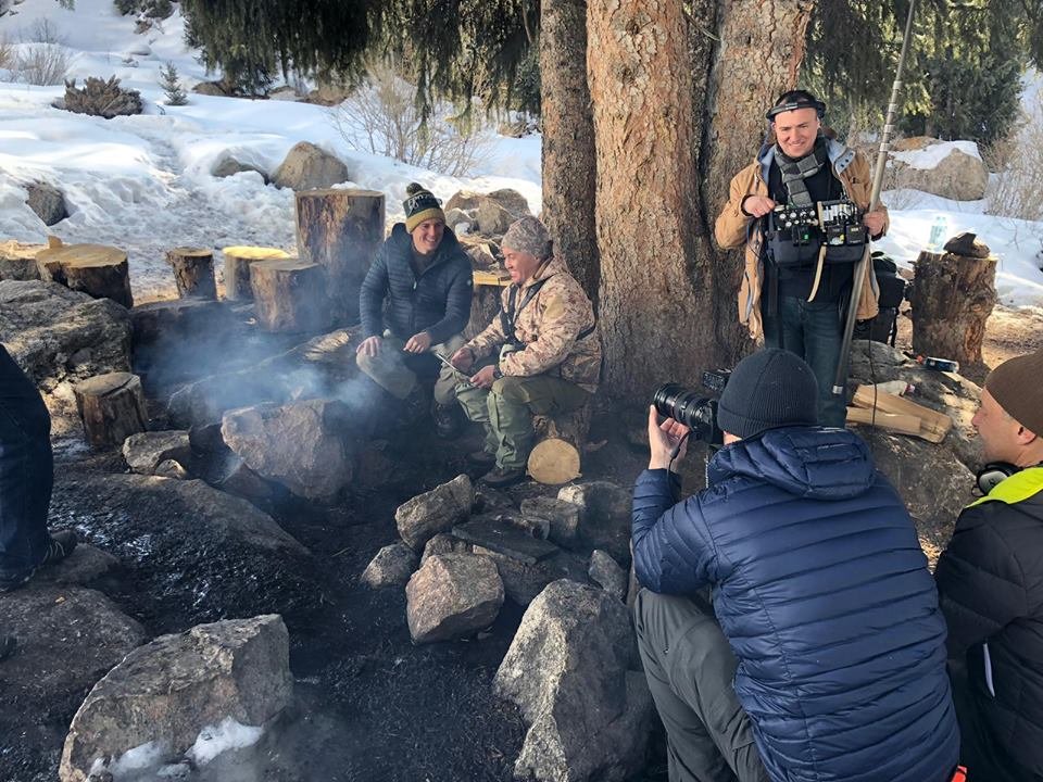 Shooting in Ile-Alatau National Park, in the mountains near Almaty, in Kazakhstan.